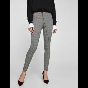 Zara Basic. Checked high waisted leggings.